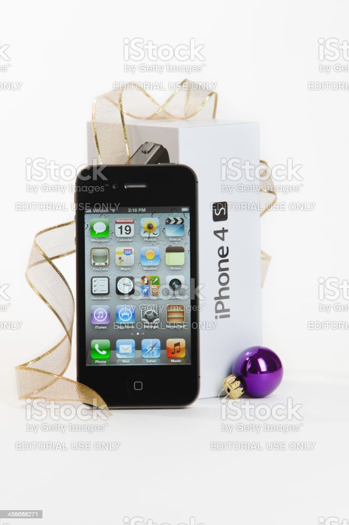 Apple iPhone 4S for the Holidays royalty-free stock photo
