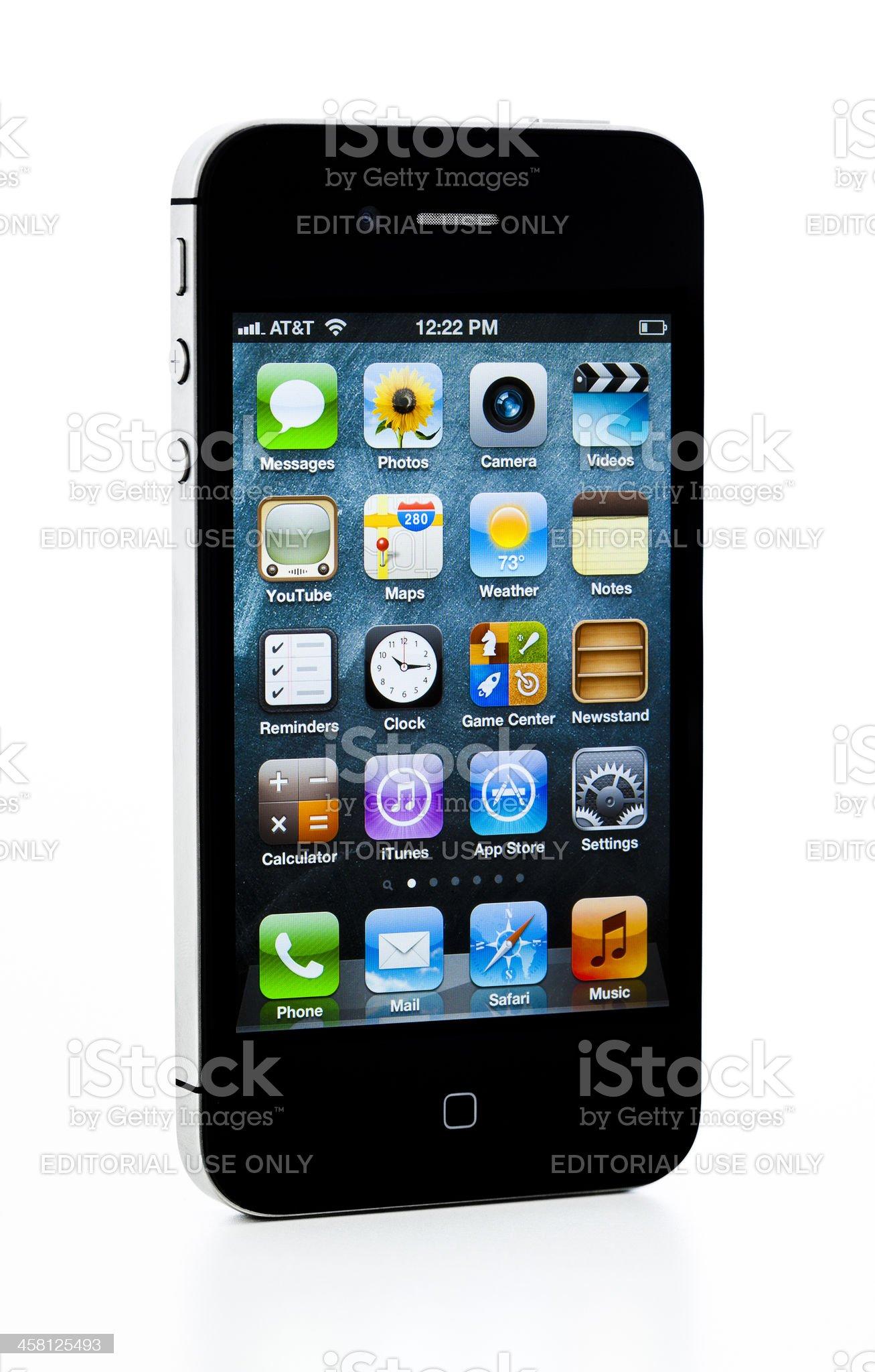 apple iphone 4S royalty-free stock photo