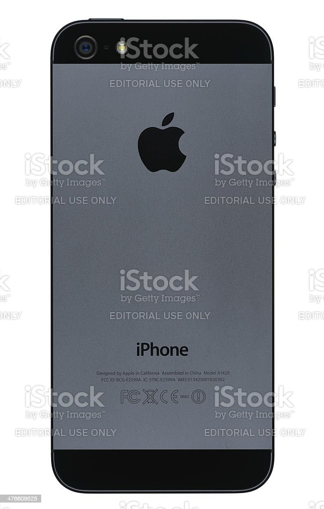 Apple iPhone 5 Back royalty-free stock photo