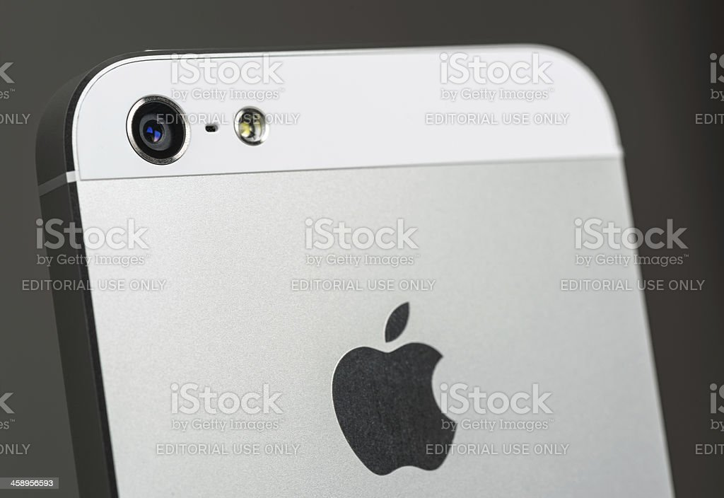 Apple iPhone 5 camera royalty-free stock photo