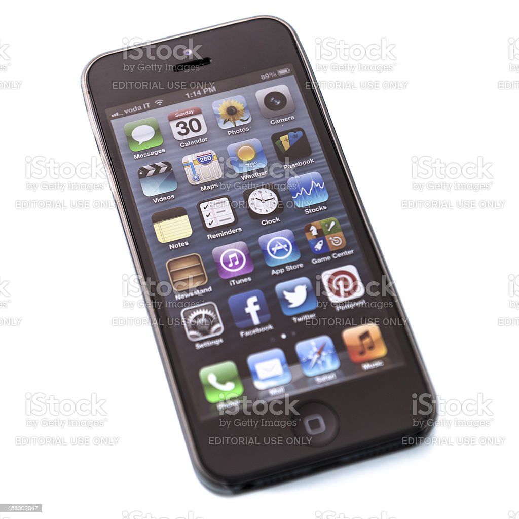 Apple Iphone 5 on white royalty-free stock photo
