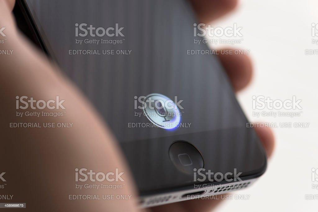 Apple Iphone 5 Siri royalty-free stock photo