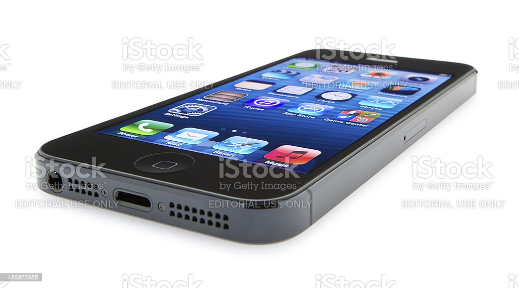 Apple iPhone 5 Smart Phone stock photo