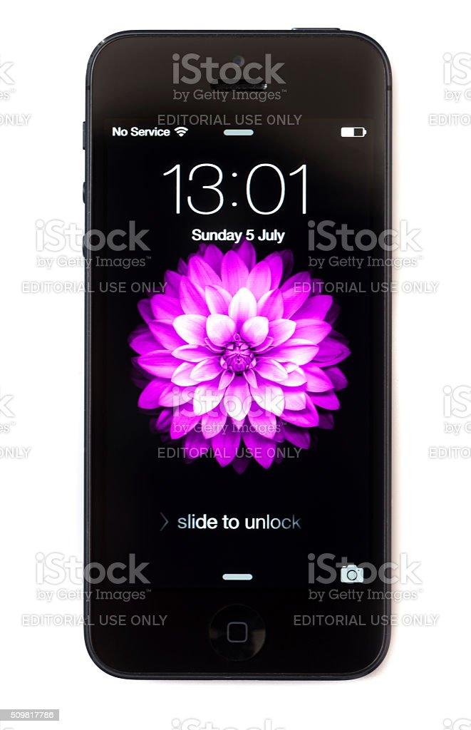 Apple iPhone 5 Smart Phone stock photo