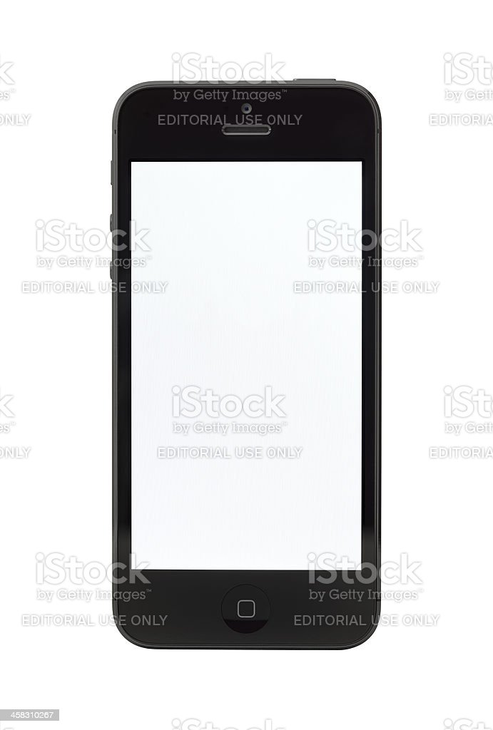 Apple iPhone 5 with blank screen royalty-free stock photo