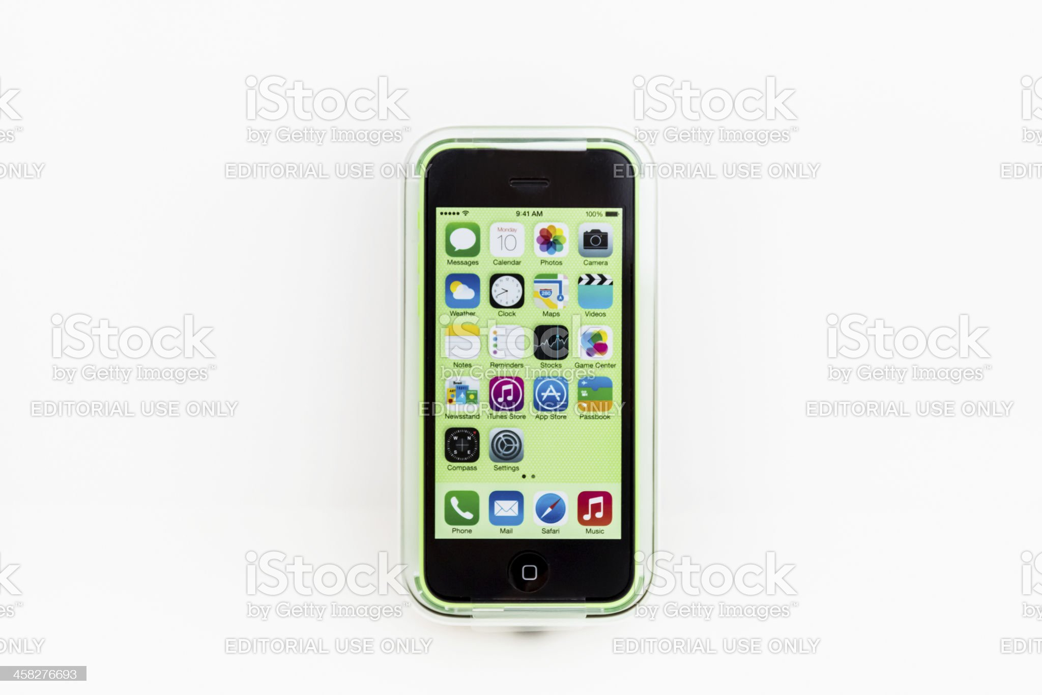 Apple iPhone 5C Green Color royalty-free stock photo