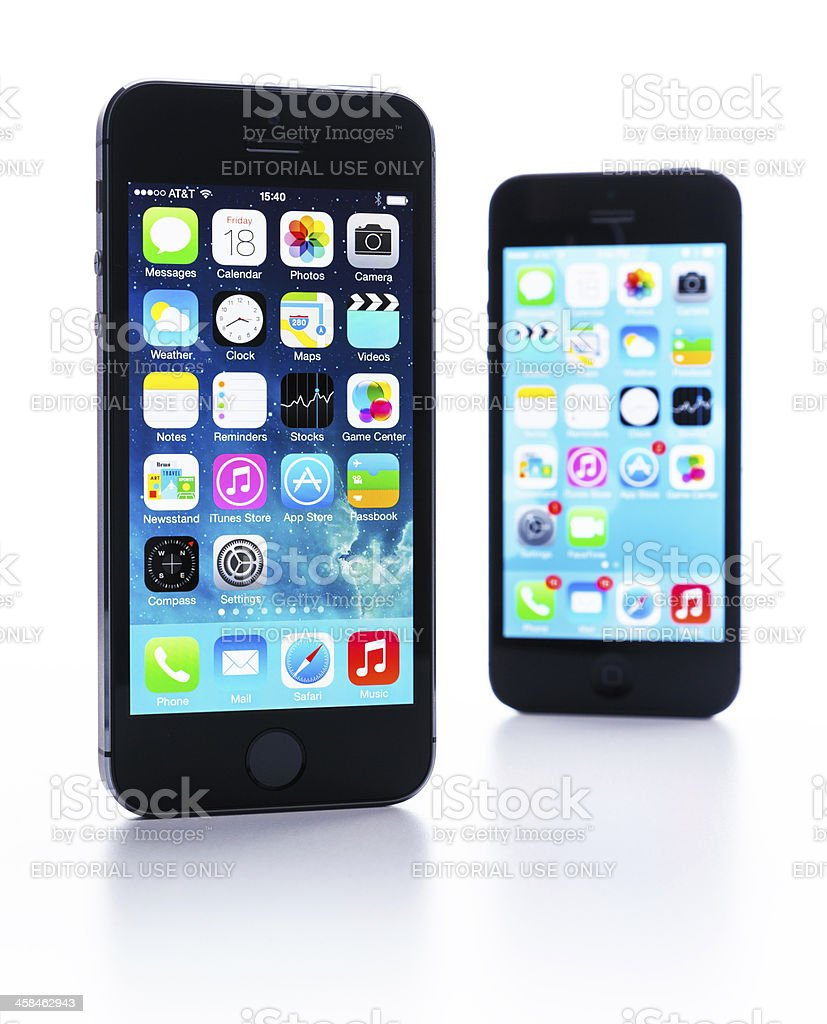 Apple iphone 5S and 5 royalty-free stock photo