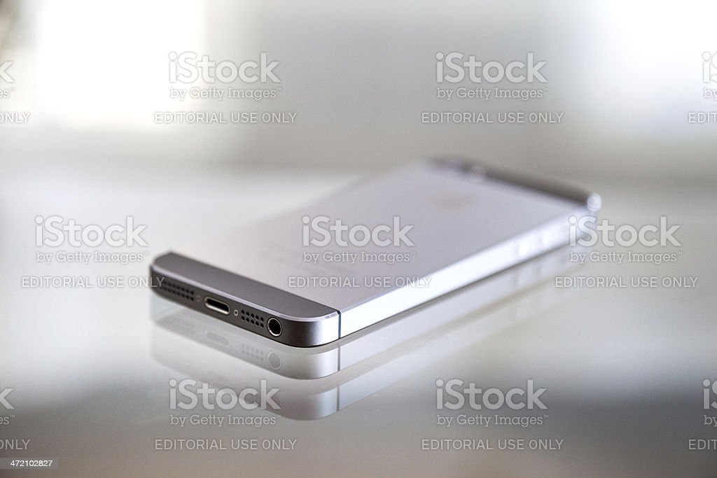 Apple iPhone 5s Backside royalty-free stock photo