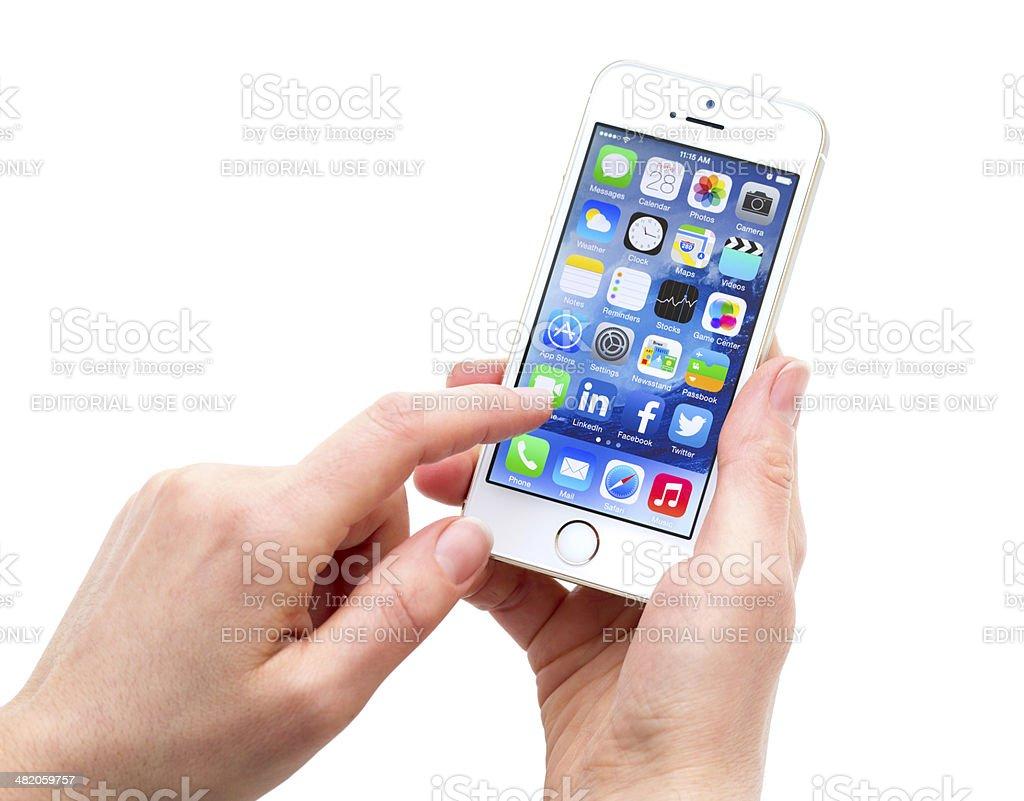 Apple iPhone 5S Gold stock photo
