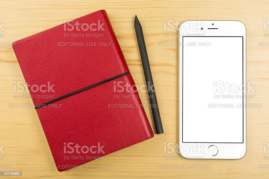 Apple iPhone 6 on the Table stock photo