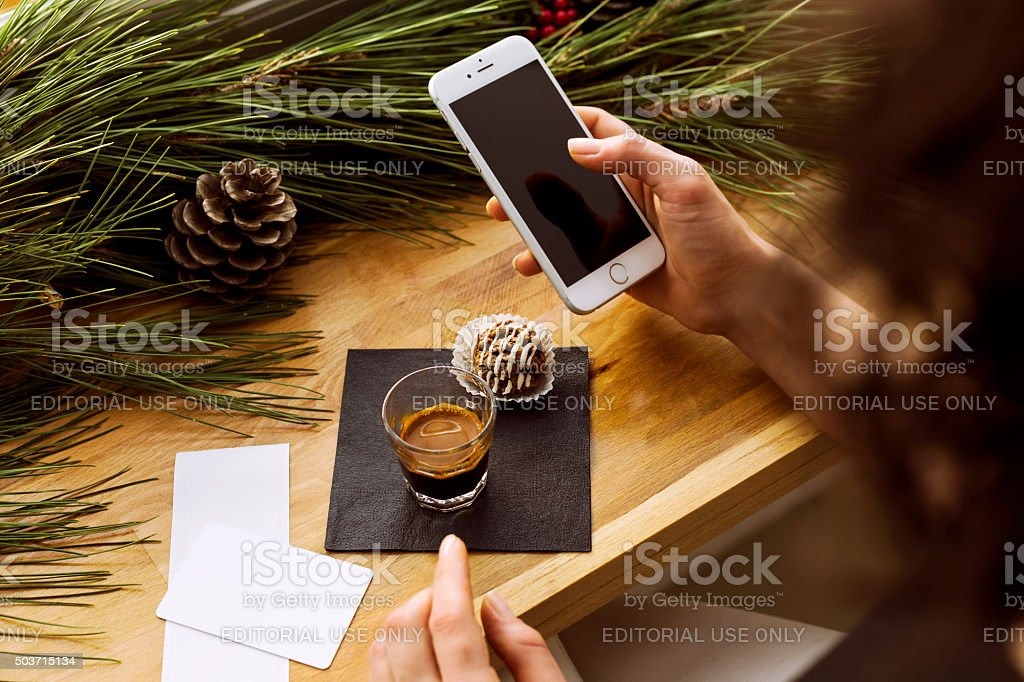 Apple iPhone 6 on the Table. stock photo