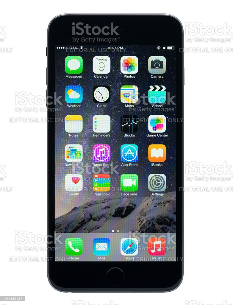 Apple iPhone 6 Plus 5.5-inch display stock photo