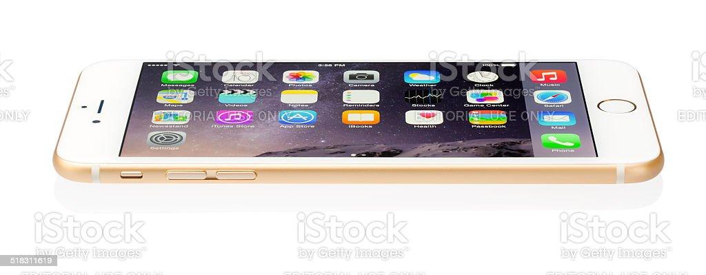 Apple iPhone 6 Plus Gold stock photo