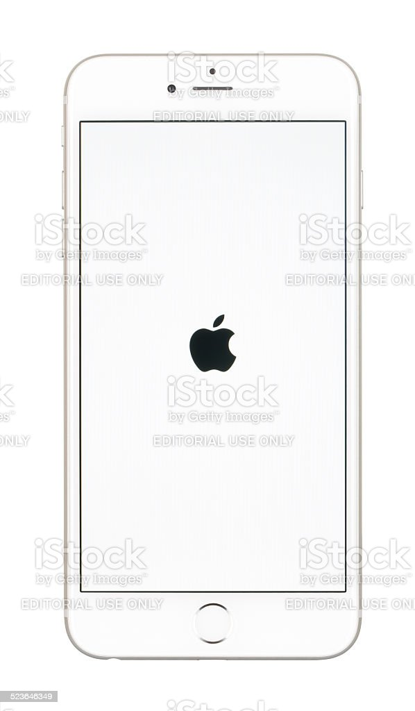 Apple iPhone 6 Plus Showing The Startup Screen stock photo
