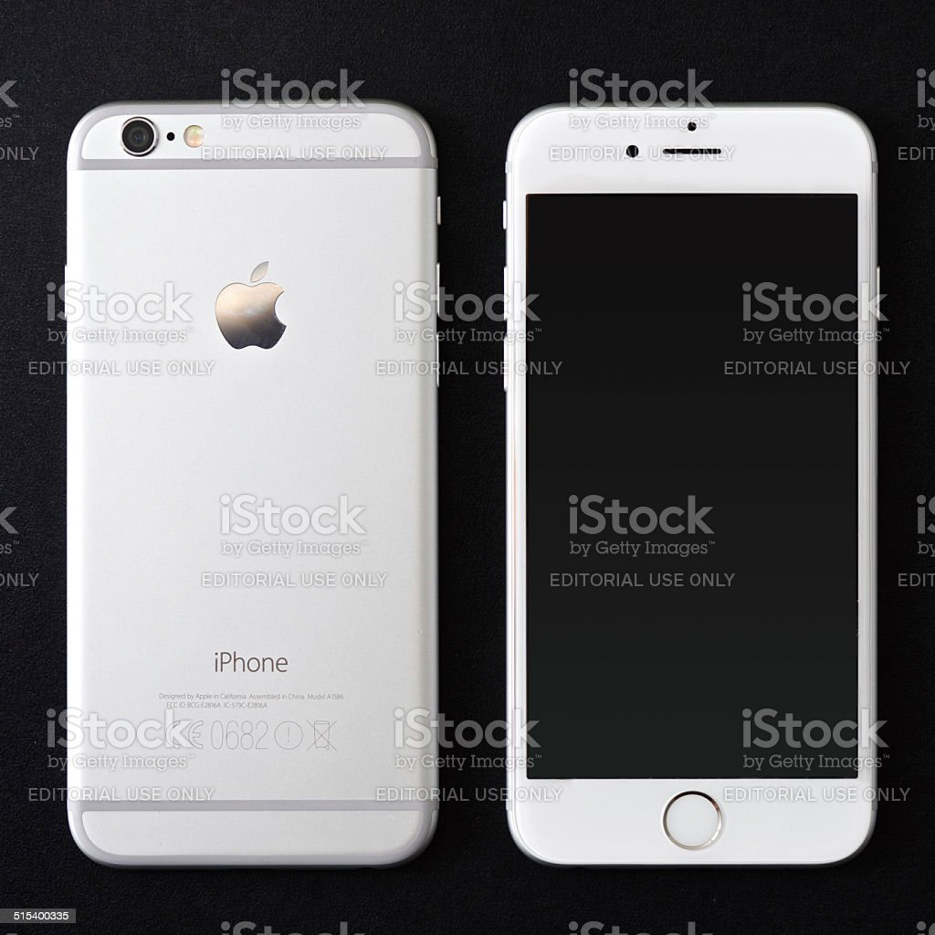 Apple iPhone 6 silver stock photo