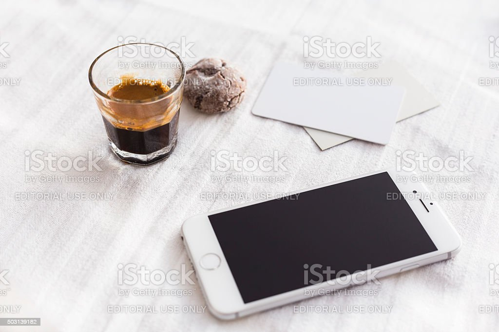 Apple iPhone 6s on the Table. stock photo