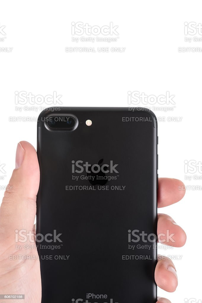 Apple iPhone 7 Plus Black Dual Lens Camera stock photo