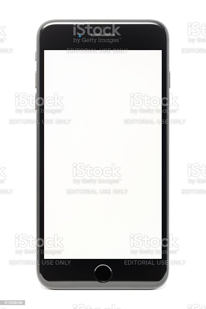 Apple iPhone 7 Plus, isolated on white background stock photo