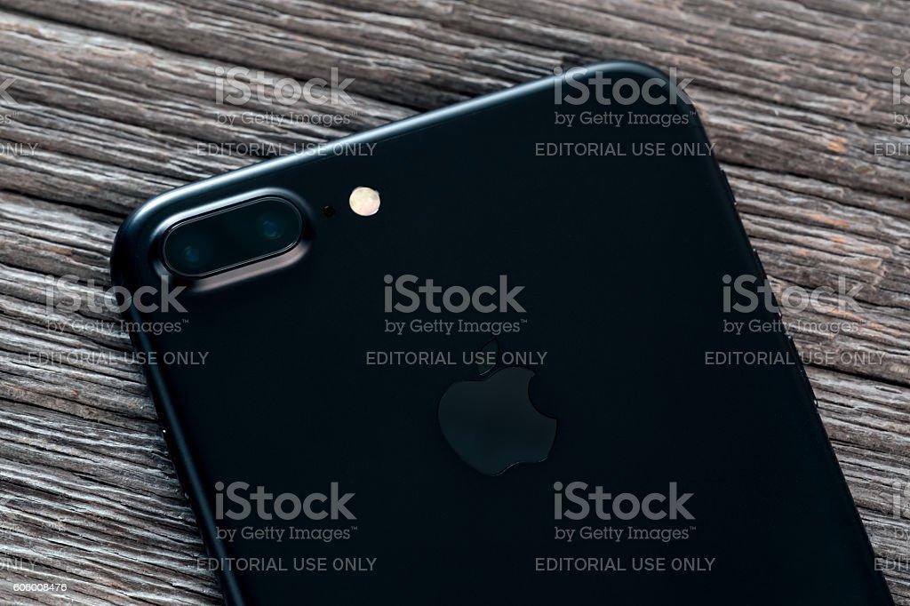 Apple iPhone 7 Plus Mat Black Dual Lens Camera stock photo
