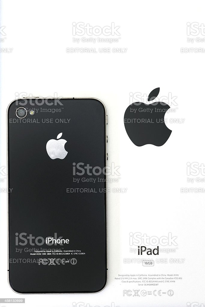 Apple iPhone and iPad royalty-free stock photo