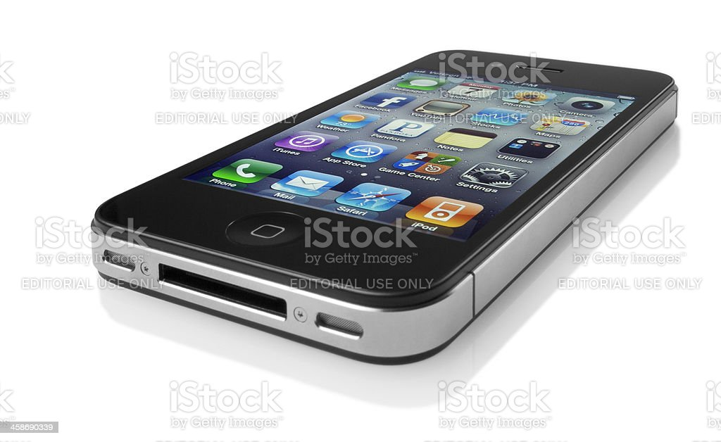 Apple iPhone on White royalty-free stock photo