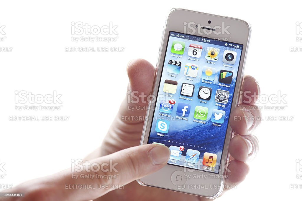 Apple iPhone5 royalty-free stock photo