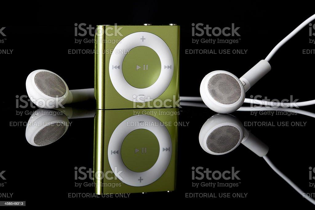Apple iPod Shuffle 4th Generation royalty-free stock photo