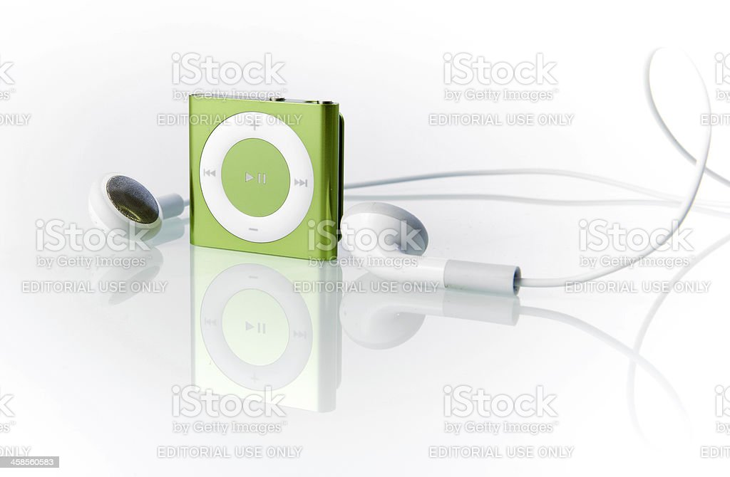 Apple iPod Shuffle 4th Generation royalty-free stock photo