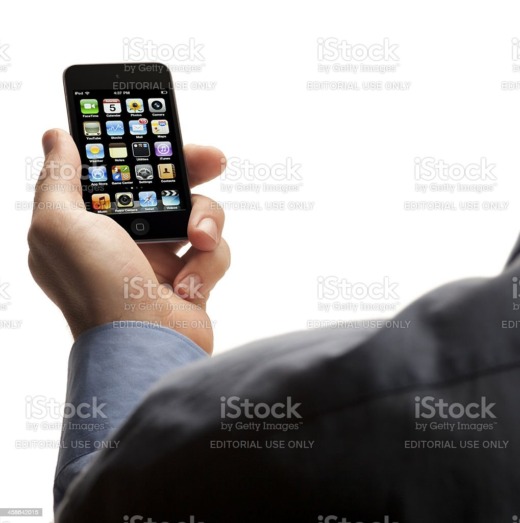 Apple iPod Touch royalty-free stock photo