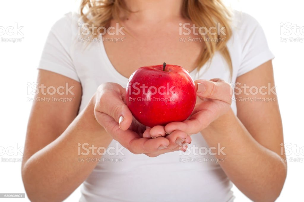 Apple is a great immune system booster stock photo