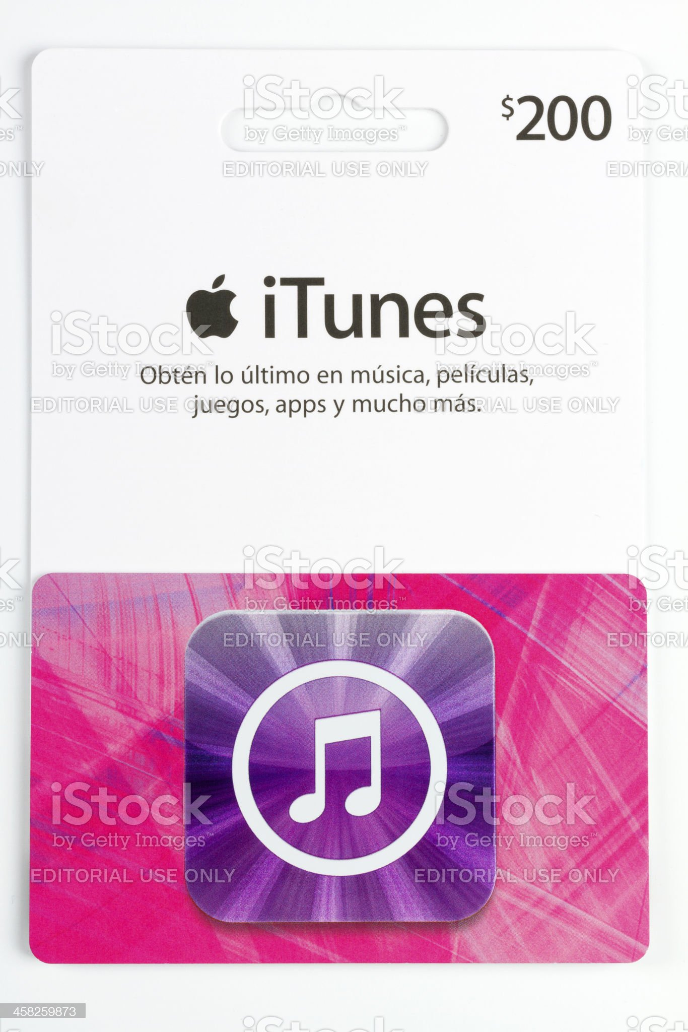 Apple iTunes Store card royalty-free stock photo