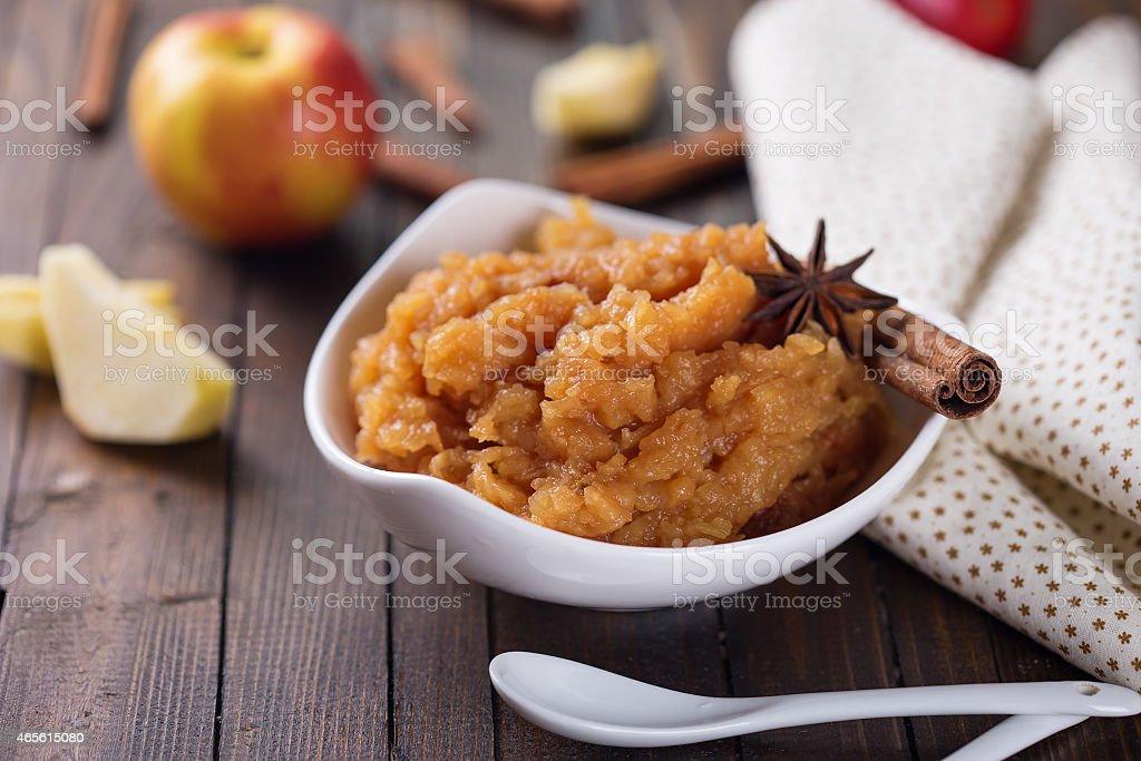 Apple jam or chutney stock photo