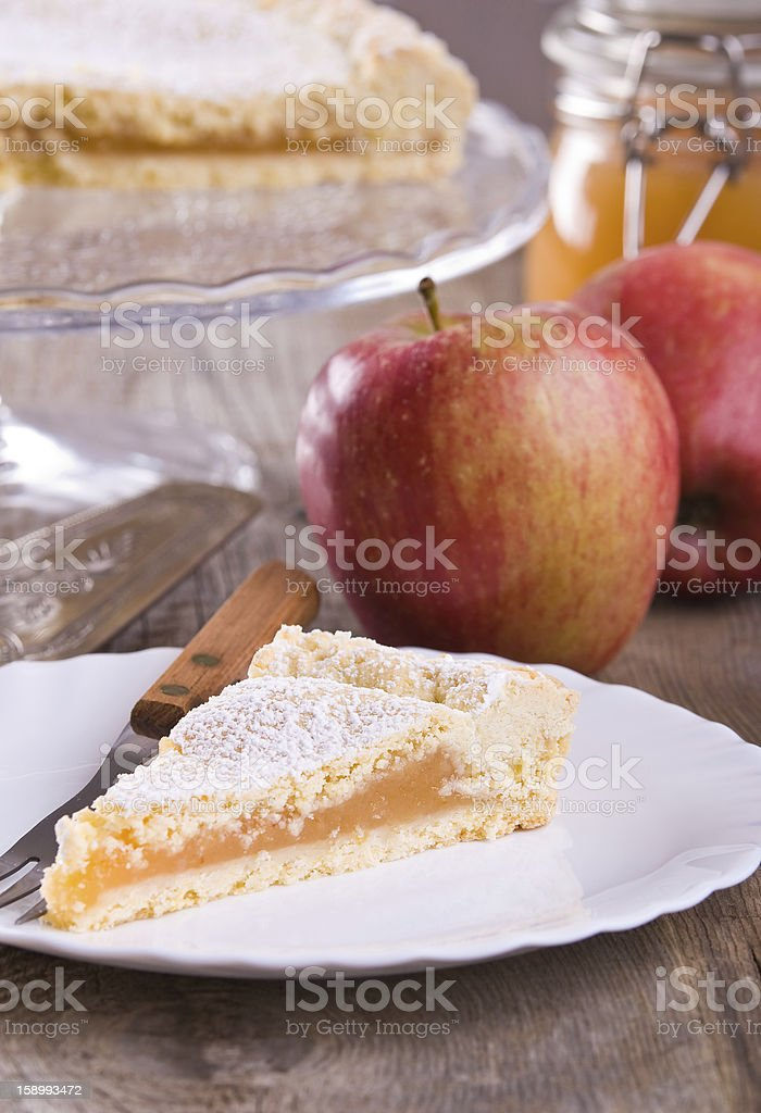 Apple jam tart. royalty-free stock photo