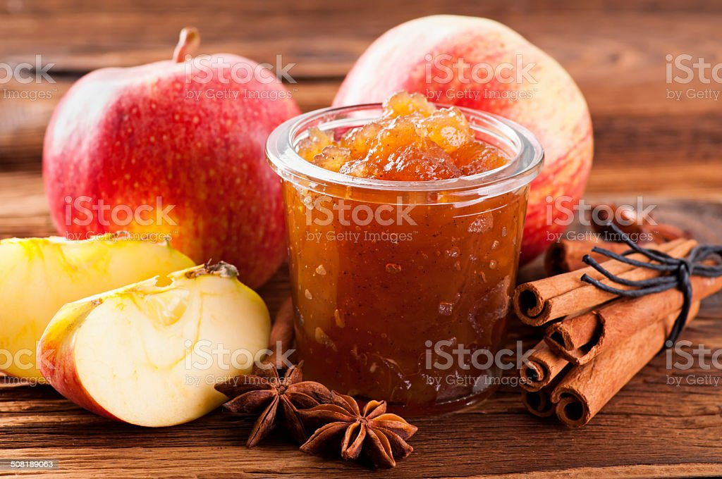 Apple Jam with Cinnamon stock photo