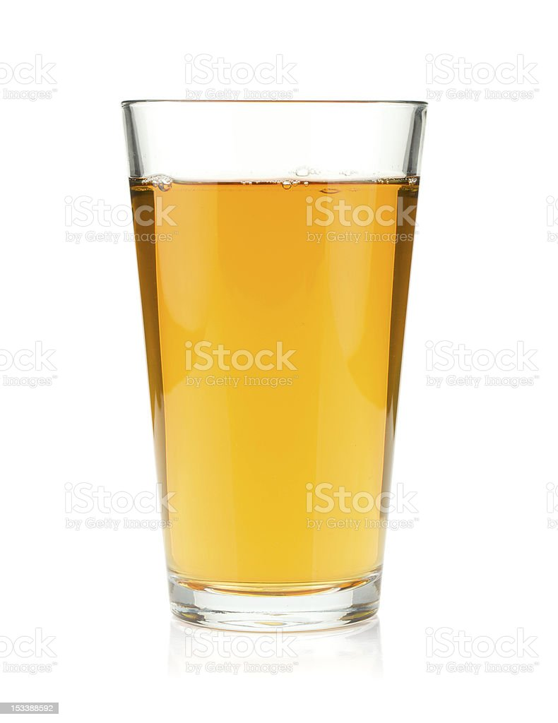 Apple juice in a glass stock photo