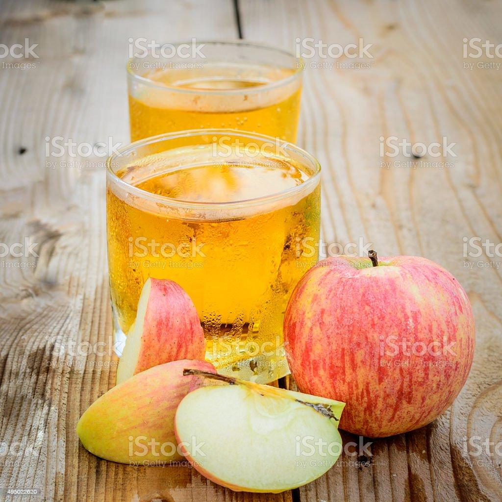 Apple juice stock photo