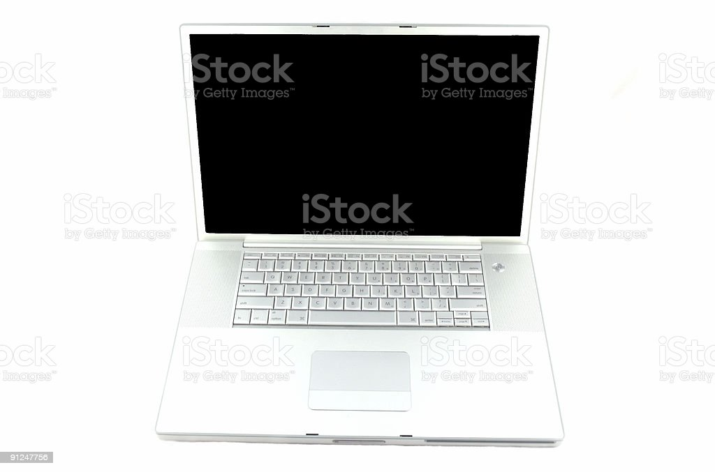 Apple laptop royalty-free stock photo