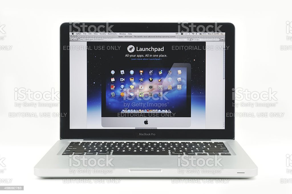 Apple Launchpad Displayed on MacBook Pro royalty-free stock photo