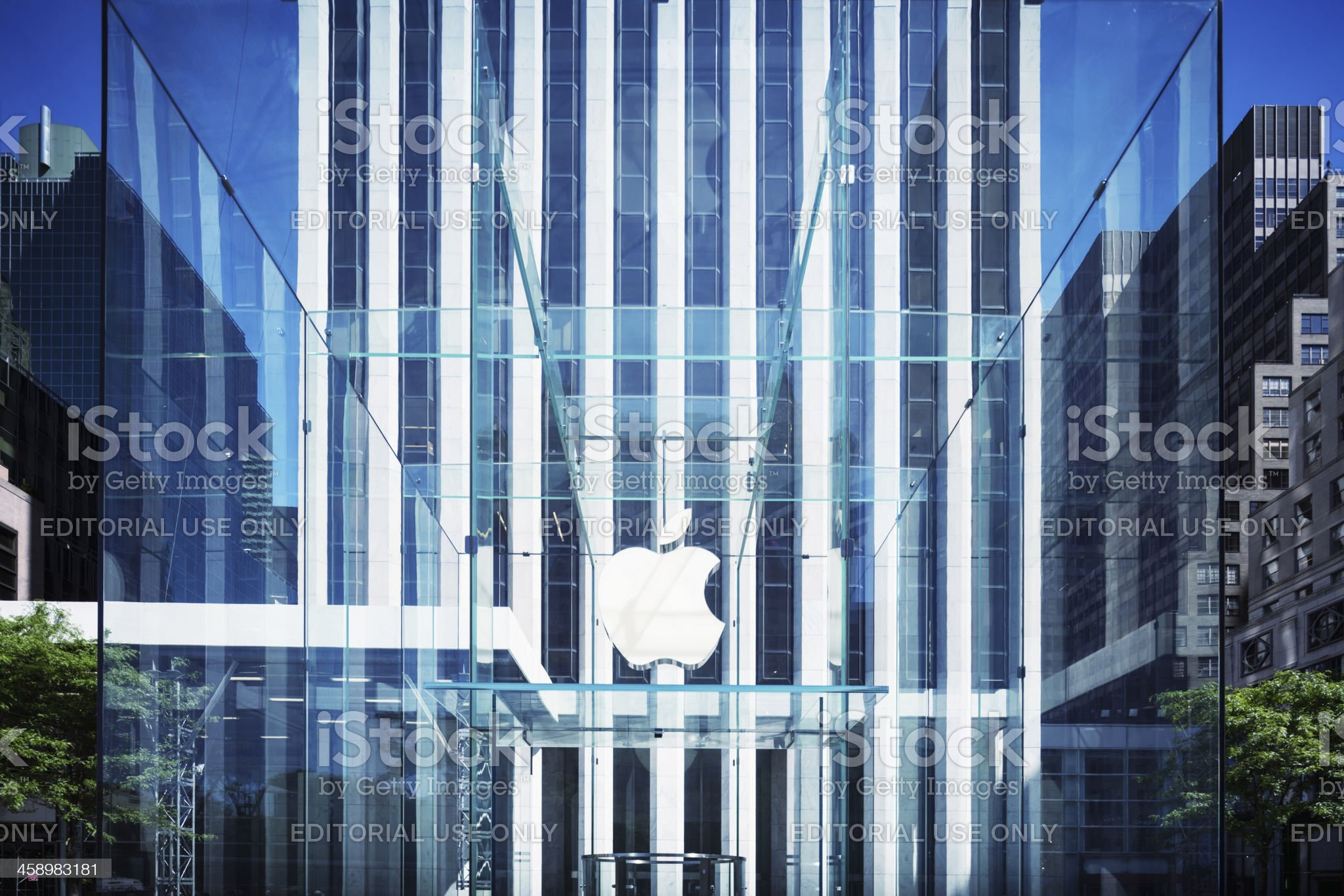 Apple Logo, New York royalty-free stock photo
