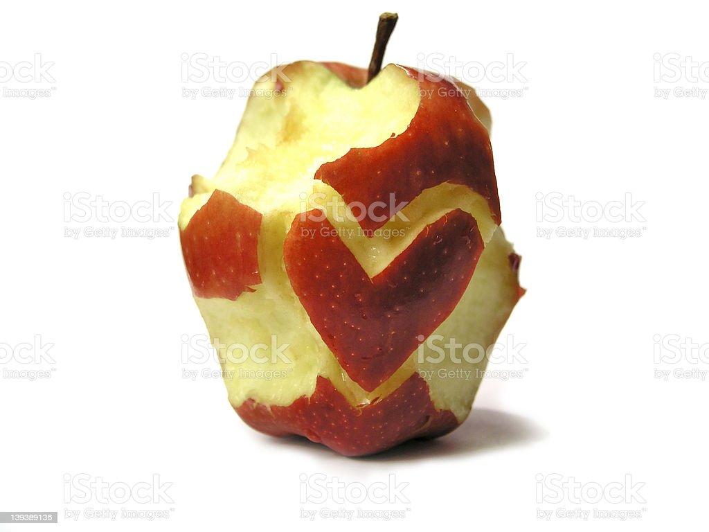 Apple love II royalty-free stock photo