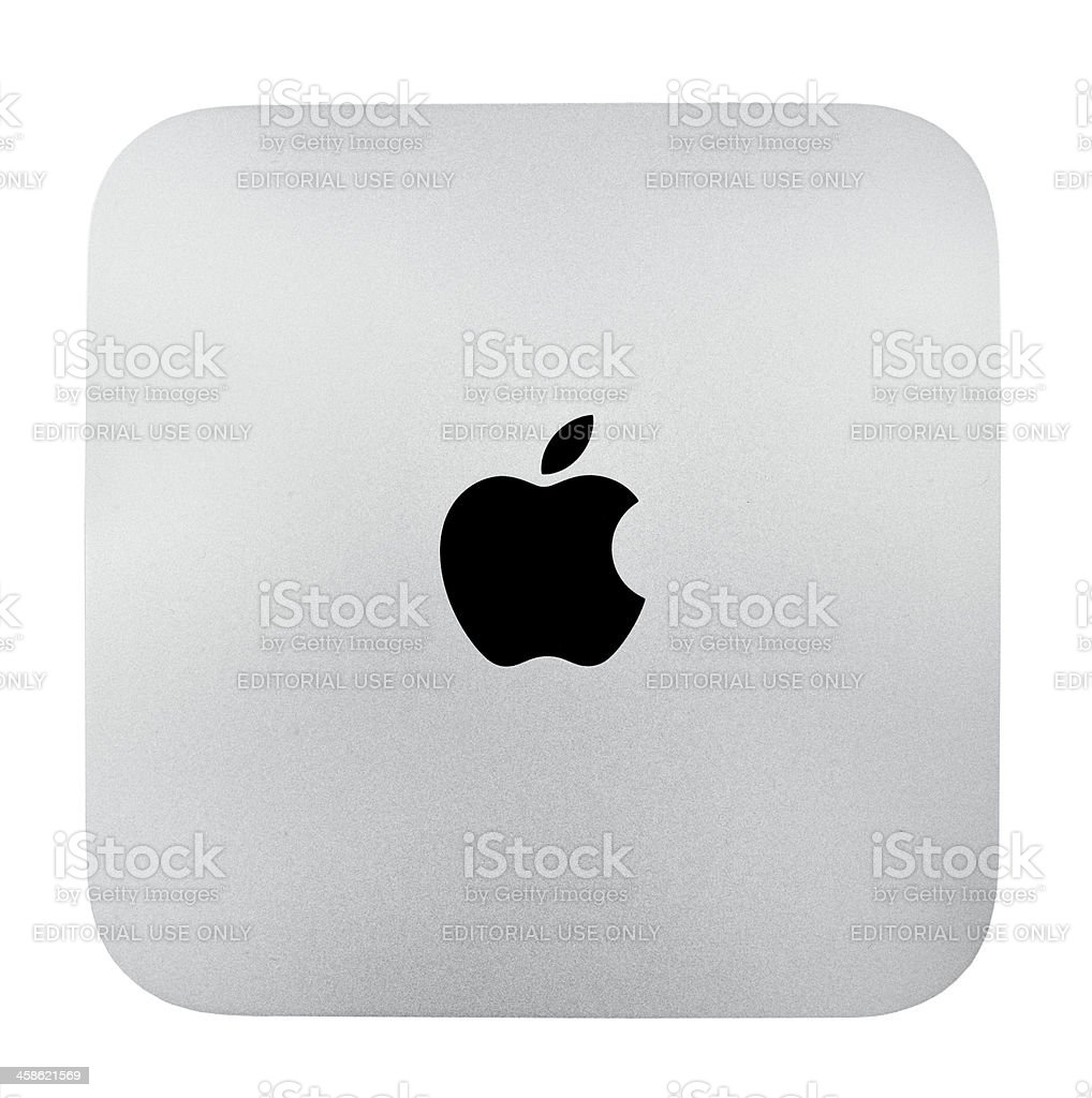 Apple Mac Mini royalty-free stock photo