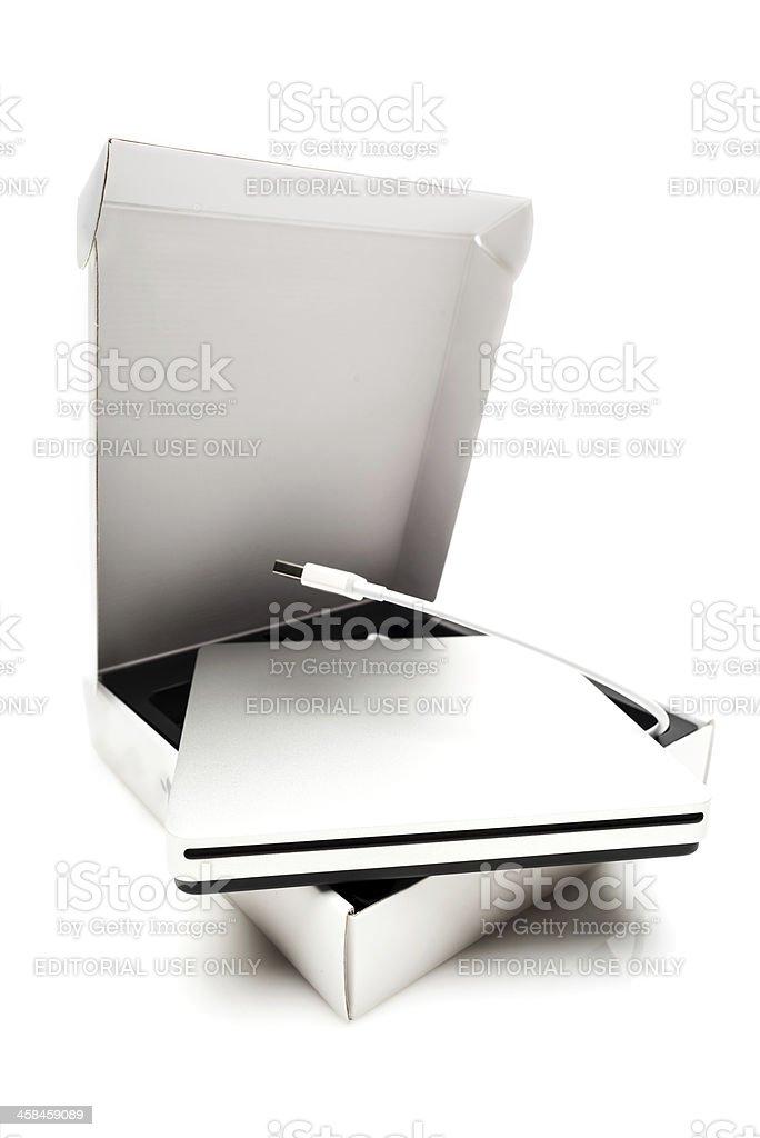 Apple MacBook Air SuperDrive royalty-free stock photo