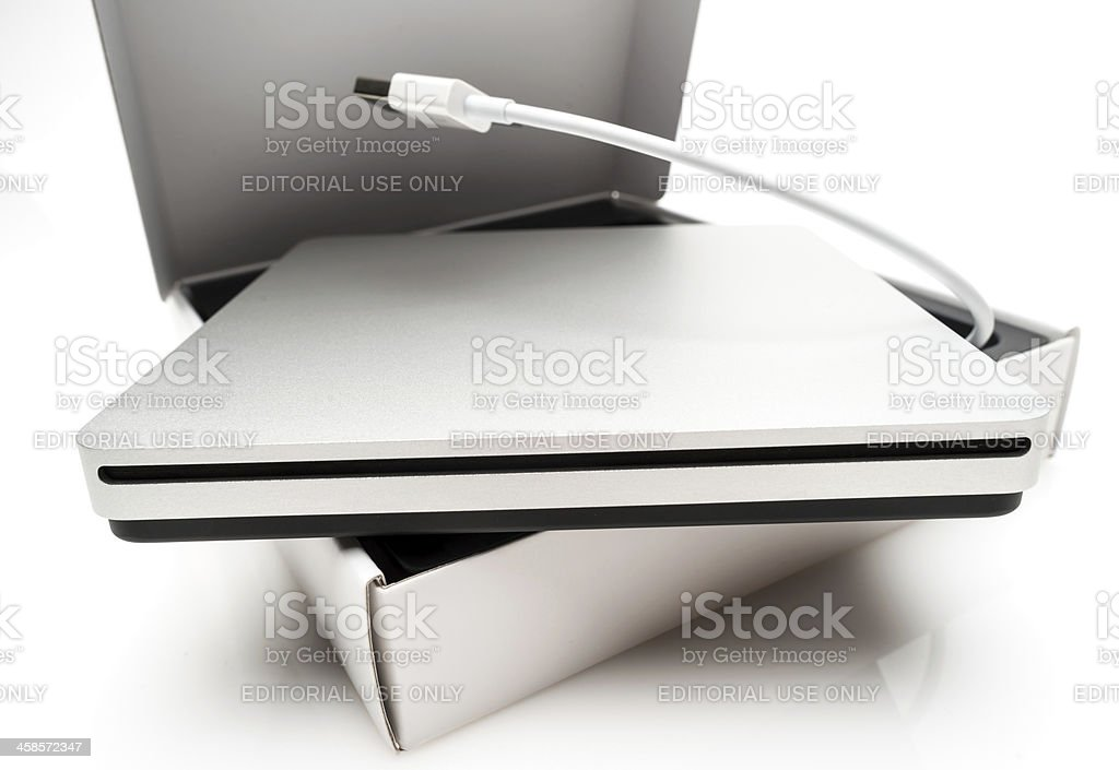 Apple MacBook Air SuperDrive royalty-free stock photo