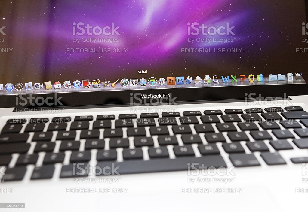 Apple MacBook Pro royalty-free stock photo