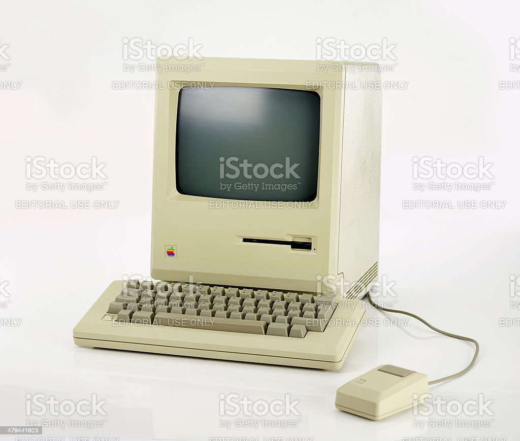 Apple Macintosh 128k from 1984, the vintage iMac royalty-free stock photo