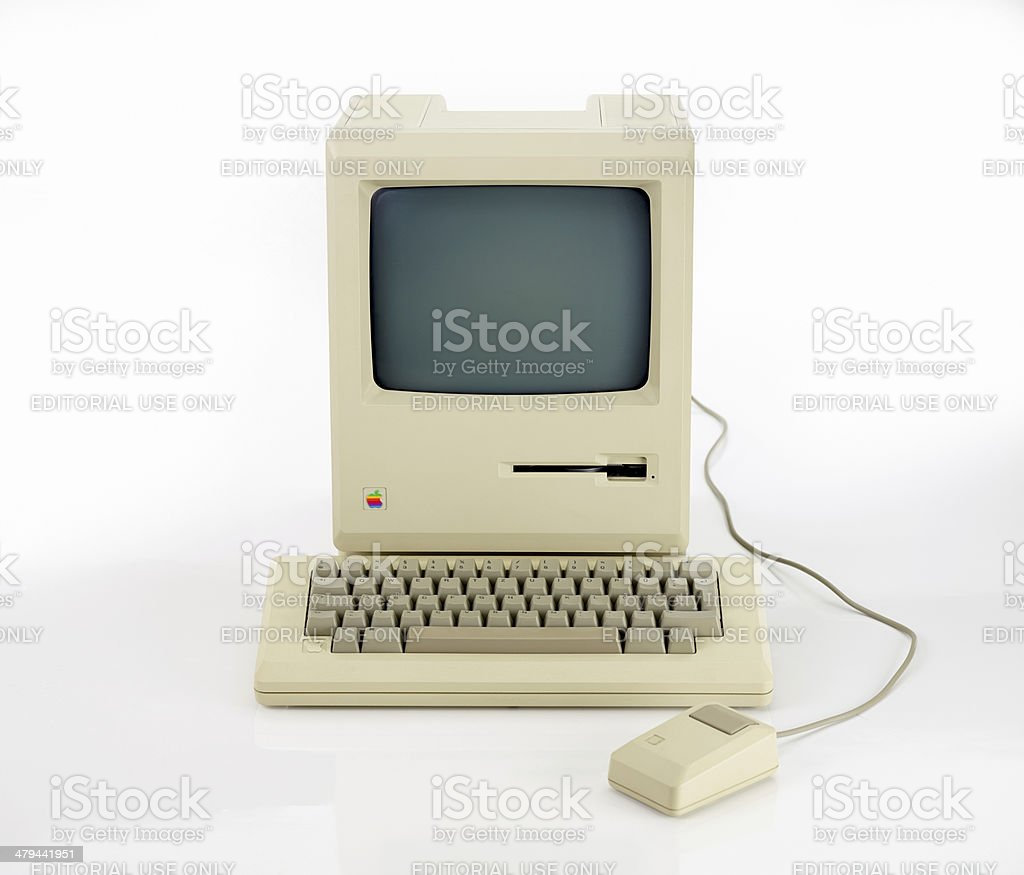 Apple Macintosh 128k from 1984, the vintage iMac royalty-free stock photo