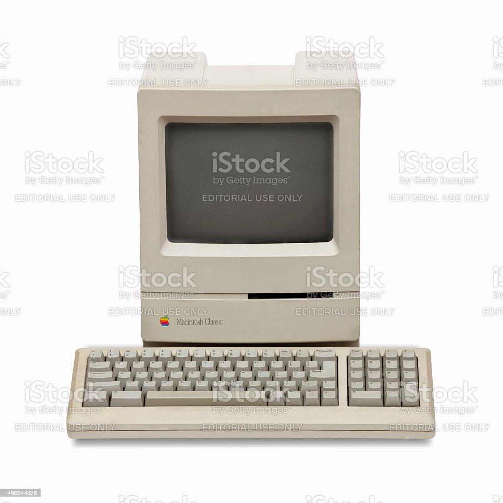 Apple Macintosh Classic, historic computer from the eighties stock photo