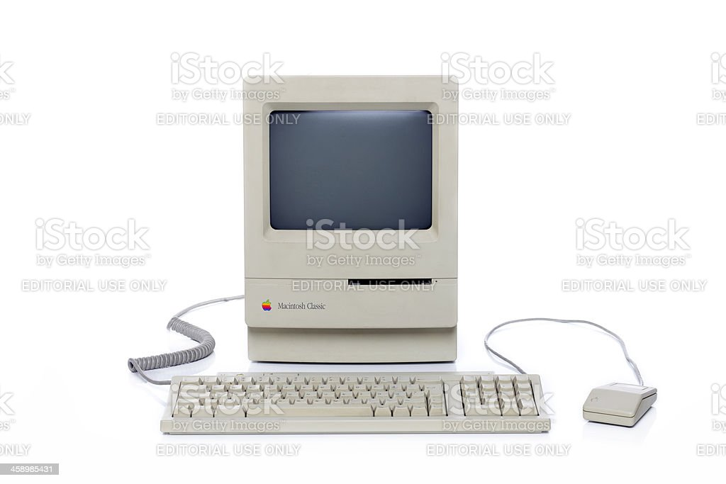 Apple Macintosh Classic XXXL royalty-free stock photo