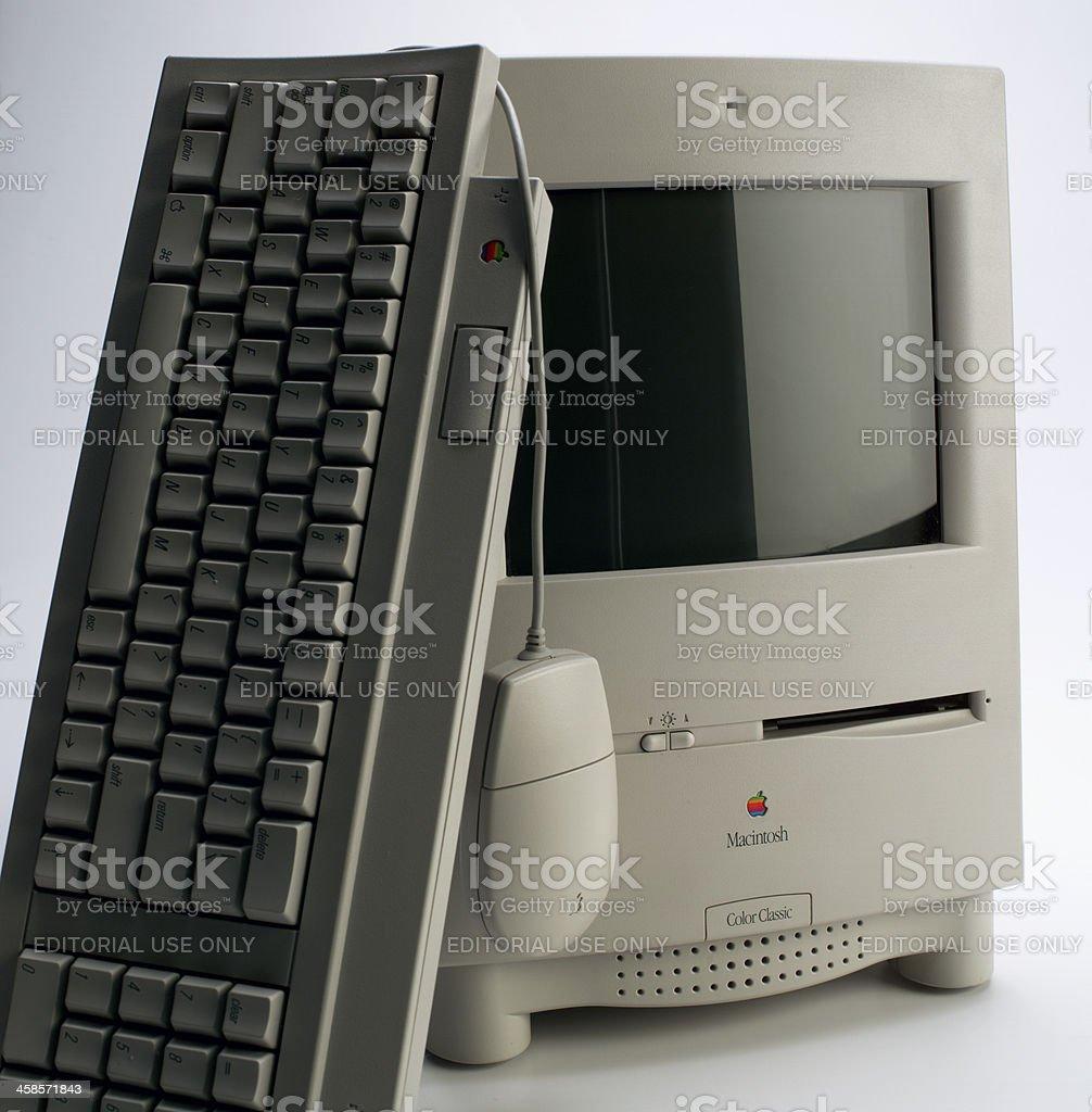 Apple macintosh color classic stock photo
