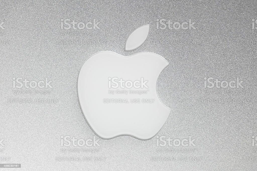 Apple Macintosh logo stock photo